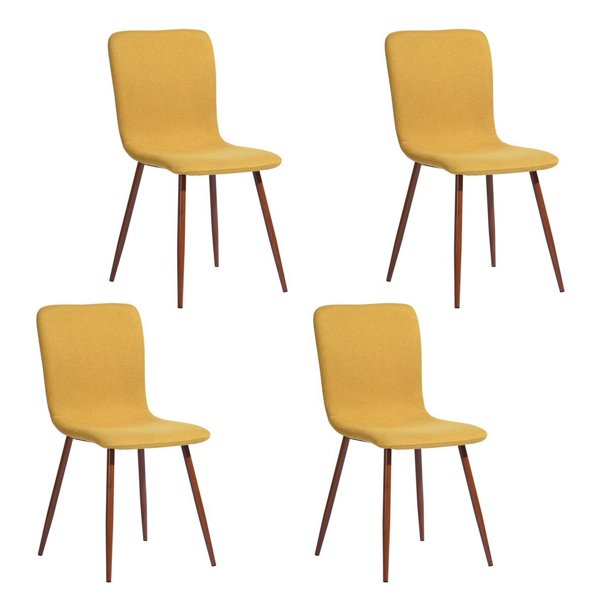 George Oliver Adeline Tufted Side Chair In Yellow Wayfair