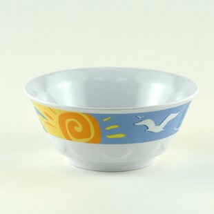 Decorated 20 oz. Melamine Ocean Breeze Non-skid Soup/Cereal Bowl (Set of 4)
