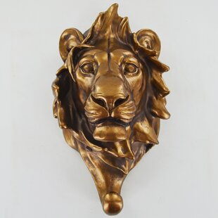 Home Lion Head Wall Hook By World Menagerie