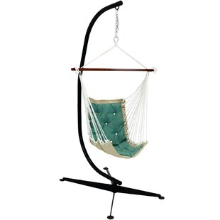 Creditonn Tufted Chair Hammock with Stand