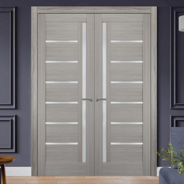 Sartodoors Paneled Manufactured Wood Quadro French Doors Wayfair