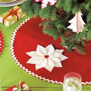 north pole holiday floral mini tree skirt - Mini Christmas Tree Skirt