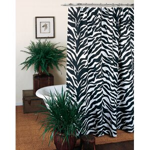 Zebra Shower CurtainAnimal Print Shower Curtains You ll Love   Wayfair. Brown And Turquoise Shower Curtain. Home Design Ideas