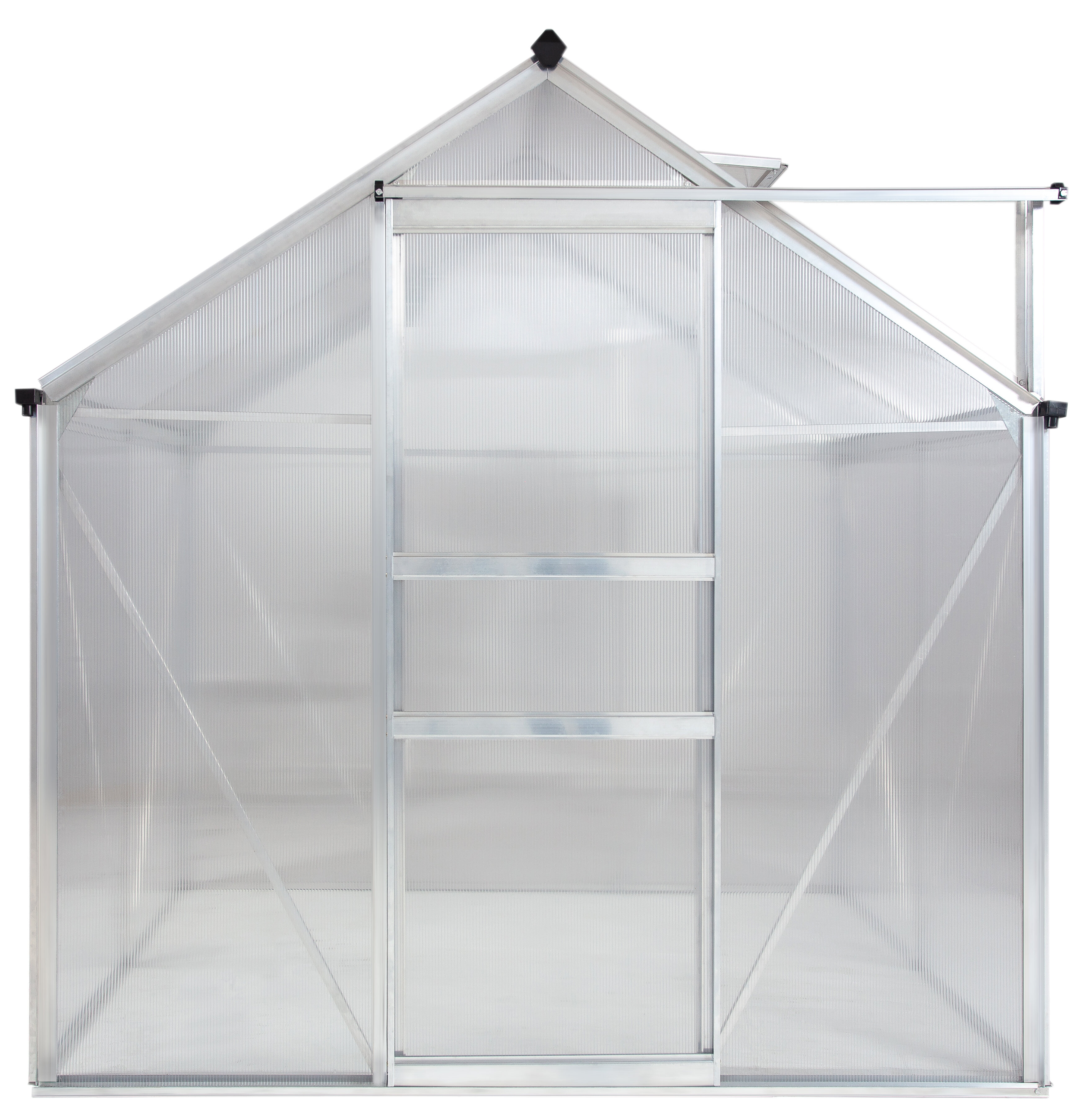 Ogrow Aluminium Greenhouse Walk In 6 X 4 With Sliding Door And Adjustable Roof Vent Reviews Wayfair