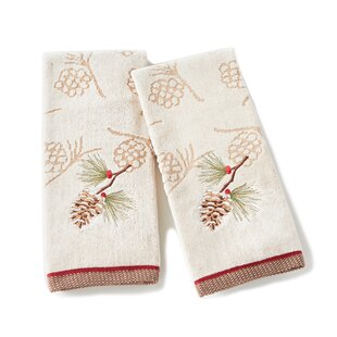 Britt Pinecone Cotton Hand Towel (Set of 2)