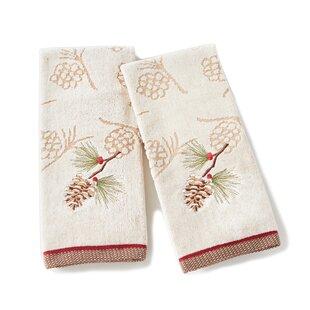 Britt Pinecone Cotton Hand Towel (Set of 2)