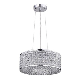 House of Hampton Clarabelle 4-Light Crystal Chandelier