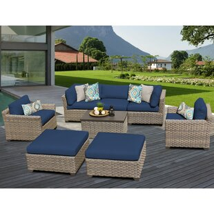 TK Classics Monterey 8 Piece Sofa Set with Cushions