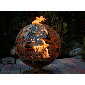 Fancy Flames Globe Wildlife Fire Outdoor Fire Pit