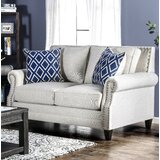 Buda 67 Rolled Arm Loveseat by Darby Home Co