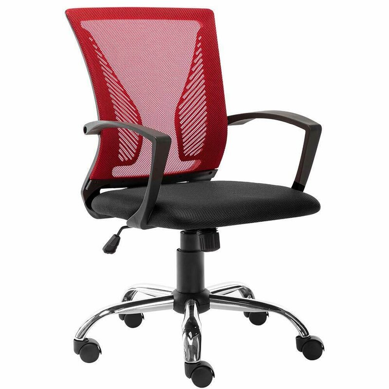Ergonomic Midback Mesh Office Chair with Adjustable Rolling Seat