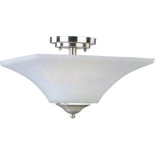 Andover Mills Slovan 2-Light Semi-Flush Mount