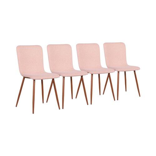 Polsterstuhl-Set Sarasota | Küche und Esszimmer > Stühle und Hocker > Polsterstühle | Rosa | Holz | ScanMod Design