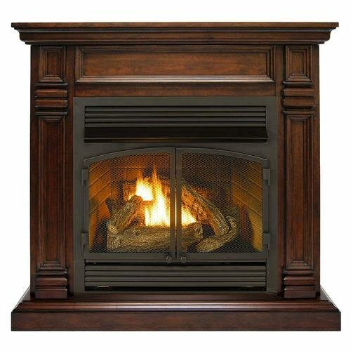 Gas Fireplace With Mantels