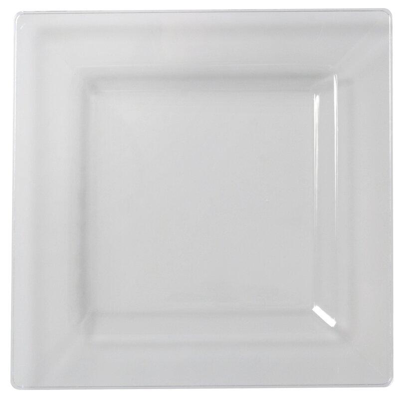 Wayfair Basics Plastic Square Dinner Plates  sc 1 st  Wayfair & Wayfair Basics™ Wayfair Basics Plastic Square Dinner Plates ...