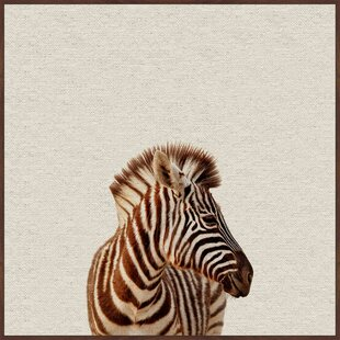 'Zebra Side View' Framed Art