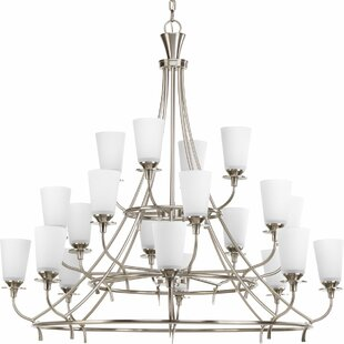 Risha 20-Light Shaded Chandelier by Red Barrel Studio