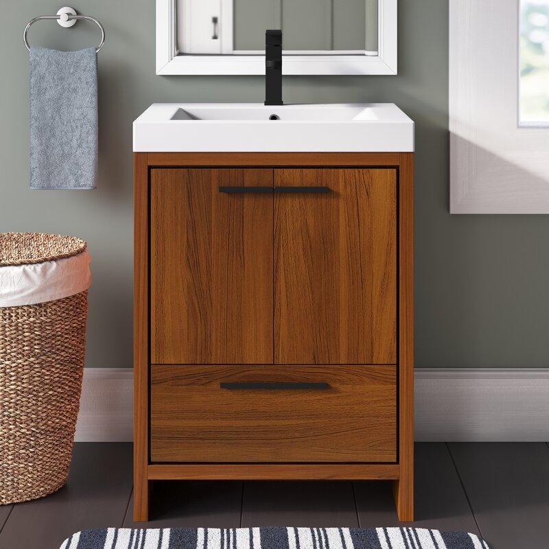 Mercury Row Burman 24 Single Bathroom Vanity Set Reviews Wayfair