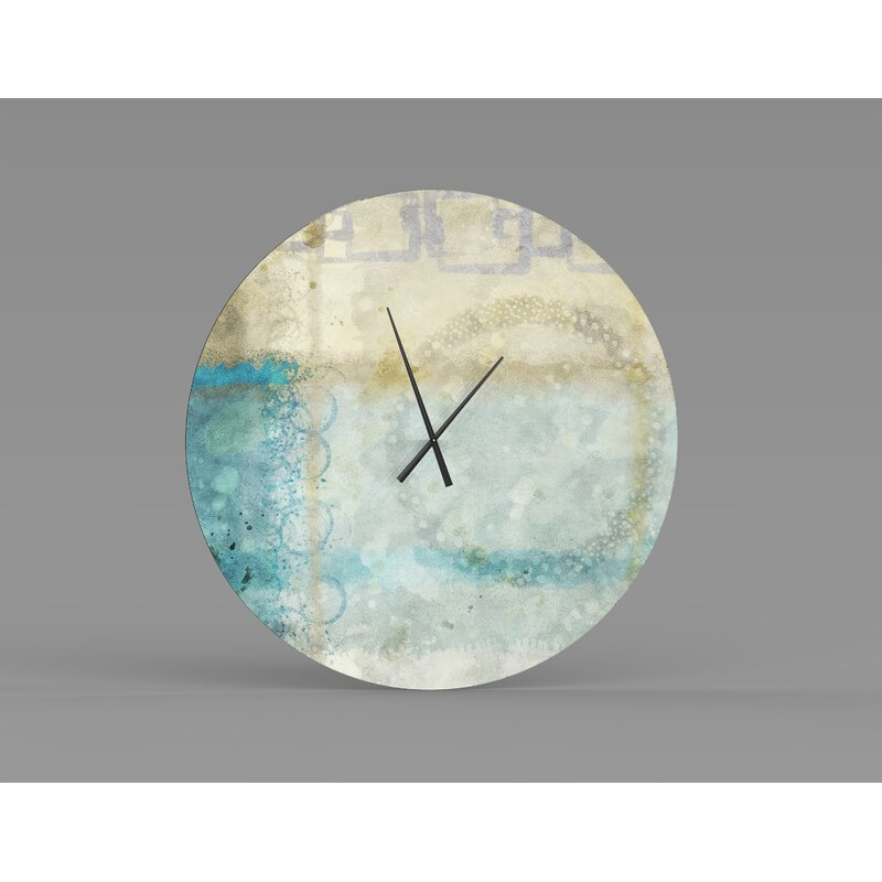 Orren Ellis Oversized Fohoren Wall Clock Wayfair