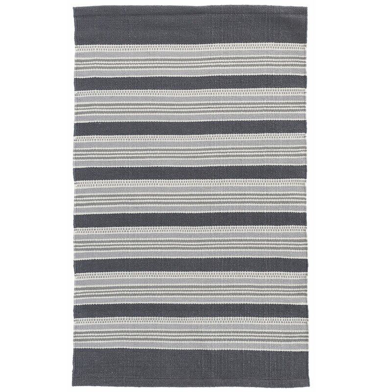 Akono Hand Woven Gray Indoor Outdoor Area Rug