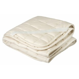 Cotton and Wool Filled Crib Mattress Topper/Puddle Pad