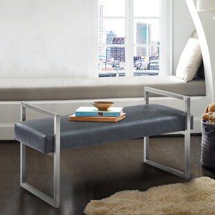 Steinman Faux Leather Bench by Orren Ellis