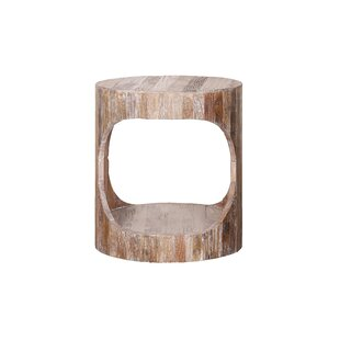 Lineberry Solid Wood Floor Shelf End Table with Storage by Loon Peak