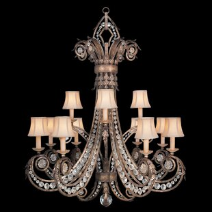 Fine Art Lamps A Midsummer Nights Dream 12-Light Shaded Chandelier