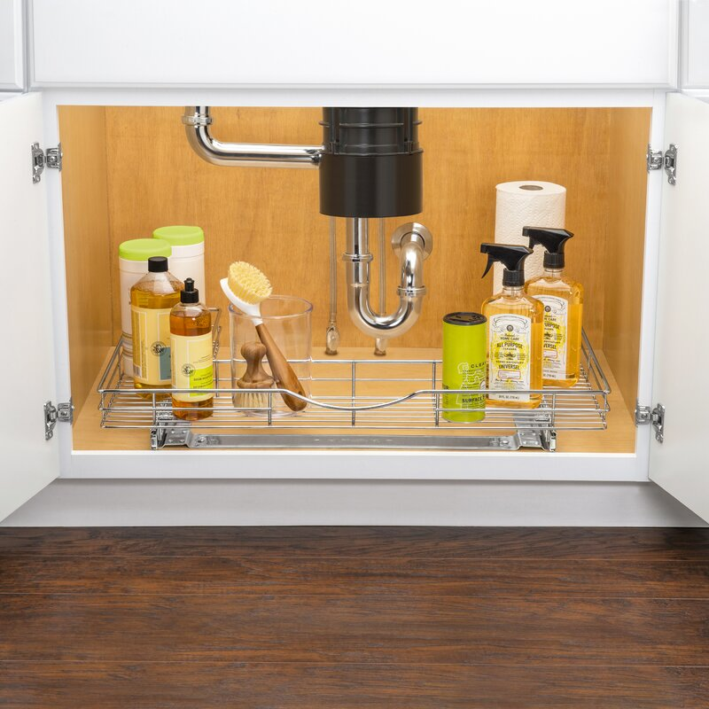 Lynk Professional® U Shaped Roll Out Under Sink Drawer U2013 Pull Out Under  Cabinet