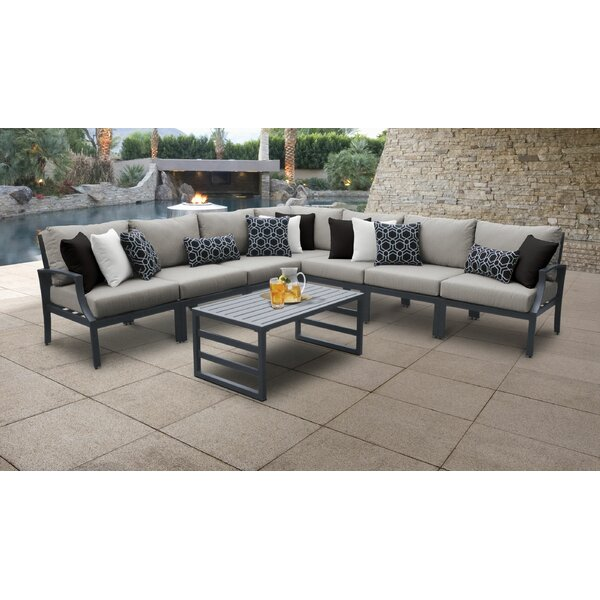 Ivy Bronx Benner Outdoor 8 Piece Sectional Seating Group With Cushions Wayfair