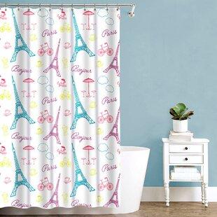 Roma Bonjour Paris Fabric Single Shower Curtain