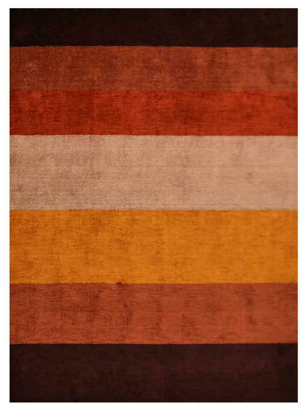 Loon Peak Abrielle Striped Hand Knotted Brown Red Area Rug Wayfair