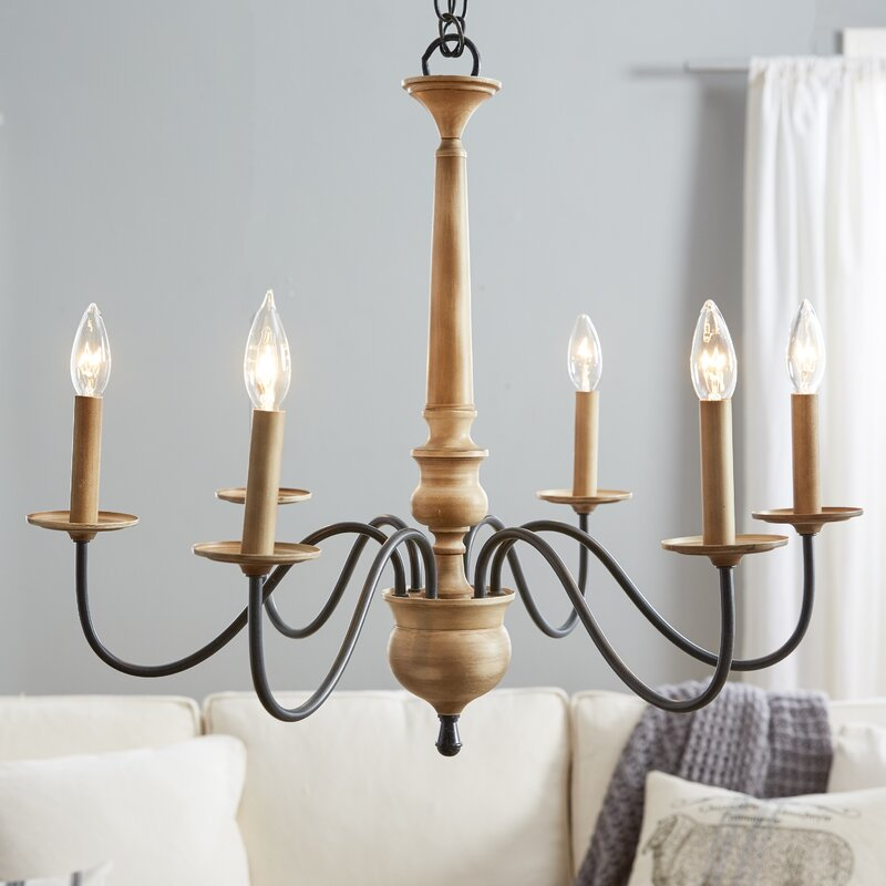 Birch lane edson 6 light candle style chandelier reviews birch lane edson 6 light candle style chandelier audiocablefo