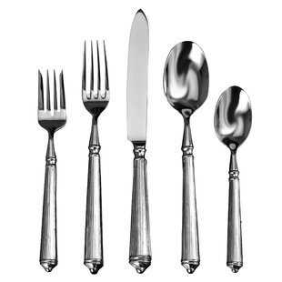 Rialto 20 Piece 18/10 Stainless Steel Flatware Set, Service for 4
