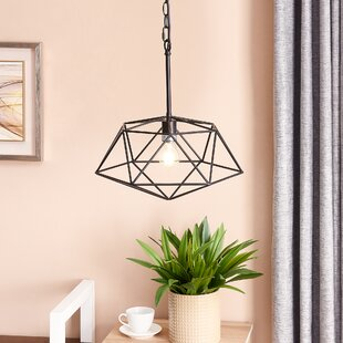 17 Stories Hiram 1-Light Geometric Pendant
