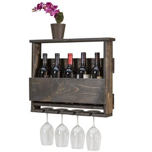 Bernon 4 Bottle Wall Mounted Wine Rack by..
