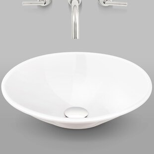 Check Prices Tempo Vitreous China Circular Vessel Bathroom Sink ByMansfield Plumbing Products