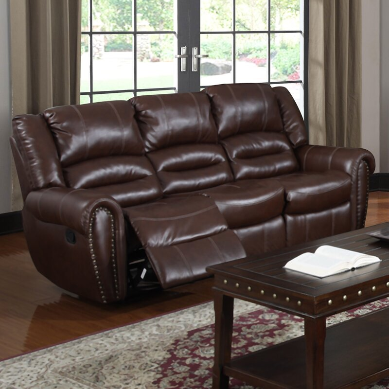 Brady Leather Reclining Sofa Part 51