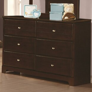 Whitewood 6 Drawer Double Dresser
