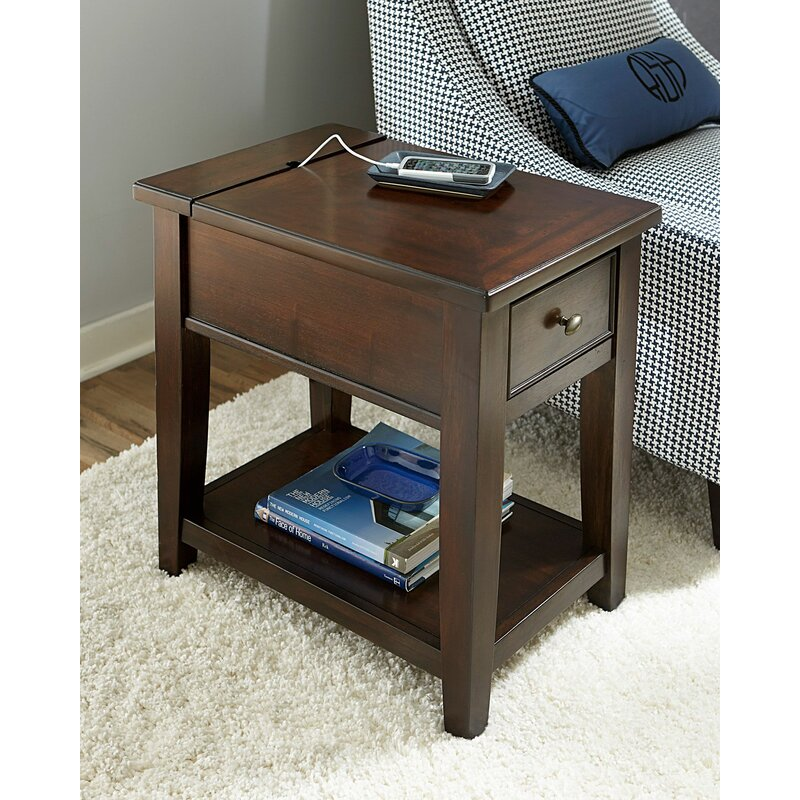 Darby Home Co Mccann Chairside End Table With Storage Reviews