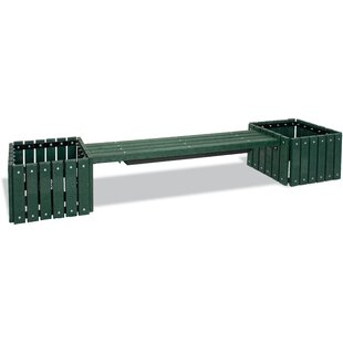 UltraSite Recycled Plastic Bench with 2 Planters