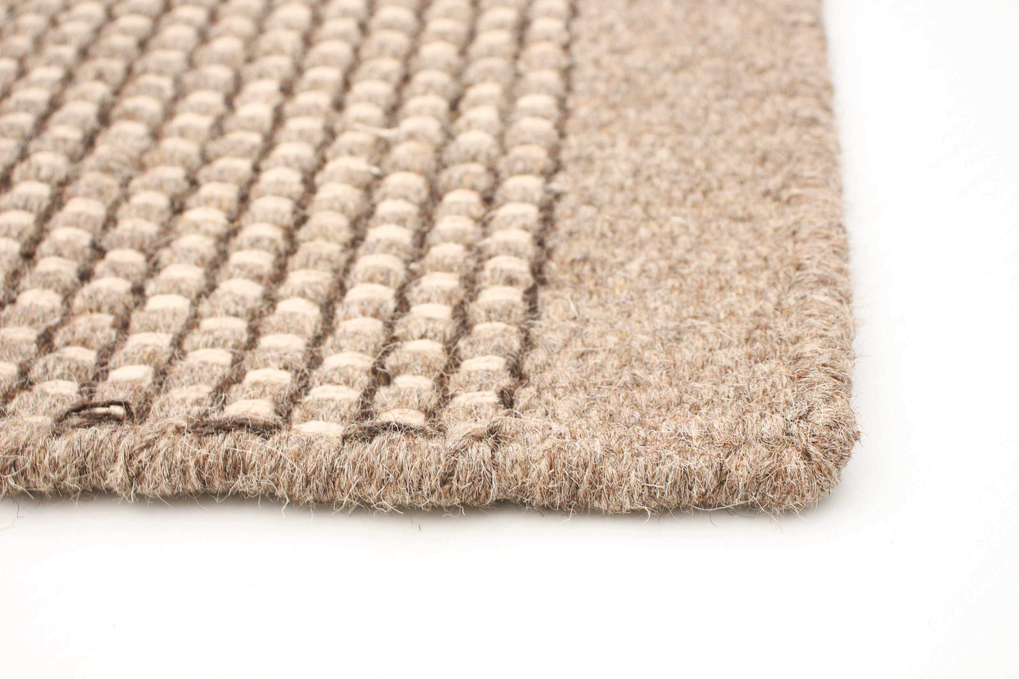 Highland Dunes Dhurrie Wool Tan Indoor