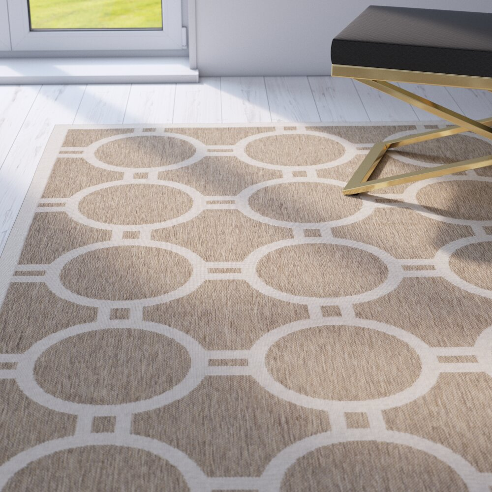 Mercer41 Olsene Brown Beige Indoor Outdoor Area Rug Reviews Wayfair