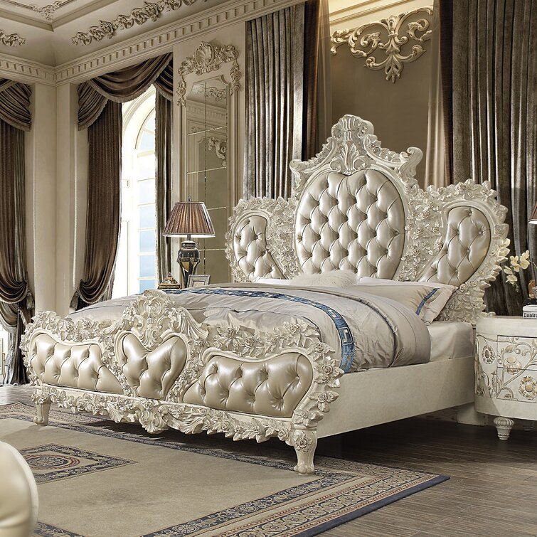 Tufted Upholstered Low Profile Standard Bed