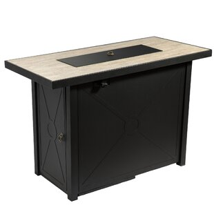 Lynelle Steel Propane Gas Fire Pit Table By Sol 72 Outdoor