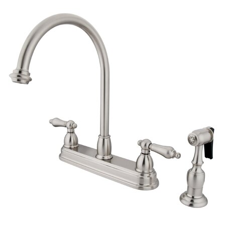 Restoration Double Handle Kitchen Faucet With Side Spray Reviews Joss Main