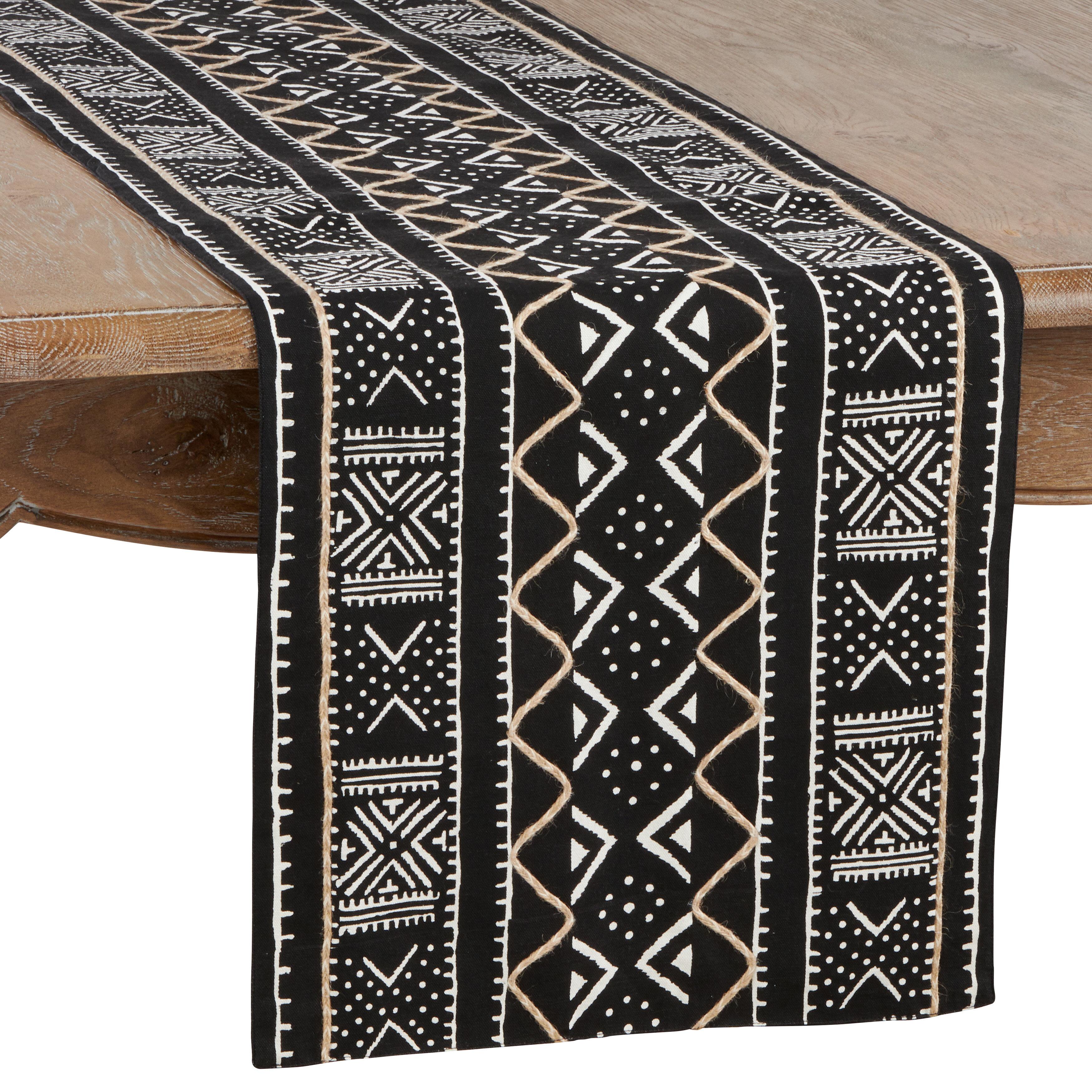 Union Rustic Gillispie Cotton Table Runner Reviews Wayfair