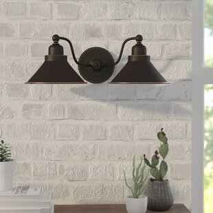 Sconces youll love wayfair schaff 2 light wall sconce in mission dust bronze aloadofball Image collections