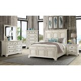 Cheadle Solid Wood Panel 4 Piece Bedroom Set by Darby Home Co