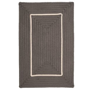 Maven Border in Border Braided Gray Indoor/Outdoor Area Rug